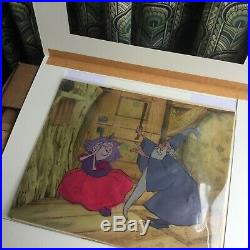 Hand painted Disney production celluloid (cel) Sword in The Stone wizard witch