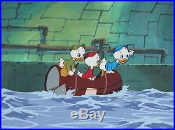 Huey Dewey Louie Walt Disney DuckTales Production Animation Cel Drawing Scrooge