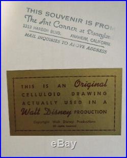 Jiminy Cricket Art Corner Fireman Original Production Disney Cel hand painted