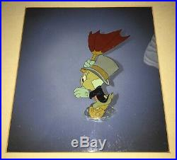 Jiminy Cricket Courvoisier production cel Disney Pinocchio VINTAGE