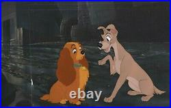 Lady And The Tramp Production Cels On 16fld Disney Production Bg, Mint, Framed