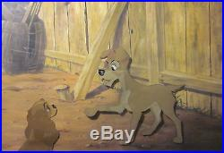 Lady and the Tramp Framed Original Production Cel