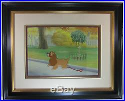 Lady and the Tramp Framed Original Production Cel Featuring Lady