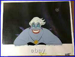 Little Mermaid (1989) Original Production cels Ursula Ariel animation art Disney