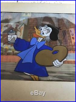 Ludwig VonDrake, Donald Duck's uncle, Walt Disney Production Cel Gold Art Corner
