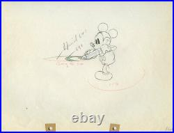 MICKEY MOUSE WITH BUG SPRAYER Mickey's Garden DISNEY PRODUCTION CEL DRAWING 1935