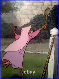 Maid Marian, Lady Kluck Disney Robin Hood Production Cel On Copy Bg, New Framed
