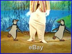 Mary Poppins Penguin Art Corner Original Production cel Disneyland New Frame
