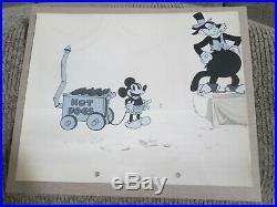 Mickey Mouse 1929 Karnival Kid cel Production Background Disney rare