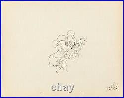 Mickey Mouse 1933 Production Animation Cel Drawing Disney Puppy Love 146