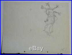 Mickey Mouse 1933 Production Cel Art Drawing Mickey's Mellerdrammer Disney