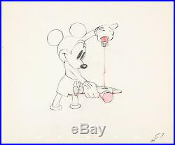 Mickey Mouse 1939 Original Production Animation Cel Drawing Disney Society Dog