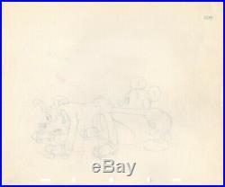 Mickey Mouse 1939 Original Production Animation Cel Drawing Disney Society Dog 2