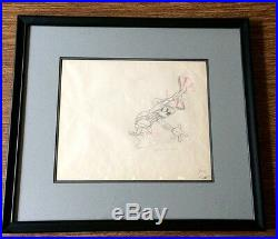 Mickey Mouse Production Drawing Cel c. 1935 Disney Framed (3-color pencil)