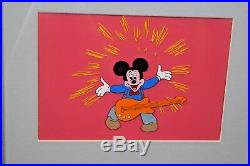 Mickey, in unknown production cels, Disney. Two cels