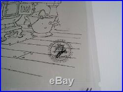 Mickey's Christmas Carol Disney Original Mickey Mouse Production Cel 1983