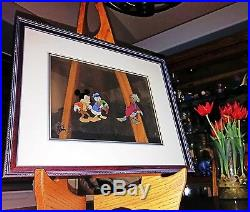 Mickey's Christmas Carol! Original Production Cel! Mickey Donald, & Scrooge