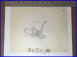 Mickey's Garden (1935) Disney original production drawing Mickey Mouse cel art