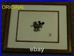 Mickeys Christmas Carol' Production Cel 1983 With Disney Studio Seal