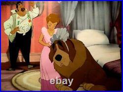 Mr. & Mrs. Darling With Nana, Disney Peter Pan Production Cels On Copy Bg, Mint
