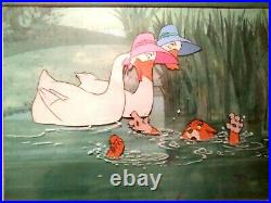 O'malley, Abigail & Amelia Aristocats Disney Production Cels On Key Copy Bg