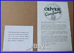 Oliver and Company Production Cel Disney 1988 Oliver, Dodger, Tito Framed