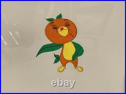 Orange Bird Production Drawing And Matching Cel Walt Disney World Florida Citrus
