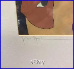 Orig. Disney Production Cel from Pinocchio featuring Geppetto, Figaro, Pinocchio