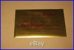 Original'55 LADY & THE TRAMP Walt Disney Lady in Muzzle w Tramp Production Cel