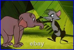 Original Disney Animation Production Cel Celluloid, Elephant Mouse Goliath II 2