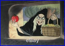 Original Disney Production Cel, Witch, Snow White and the Seven Dwarfs, 1937