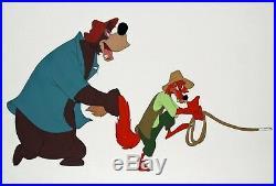 Original Disney Production Cel from Song of the South ft. Br'er Fox & Br'er Bear