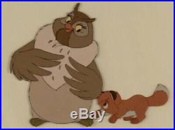 Original Disney Production Cel of Big Mama and Tod From The Fox And The Hound