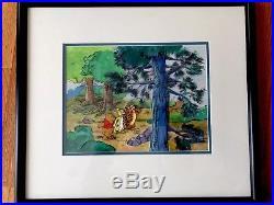 Original Disney Studios Production Cel Winnie the Pooh, Rabbit & Tigger