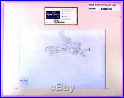 Original Disney TV Production ANIMATION CEL BUZZ LIGHTYEAR OF STAR COMMAND WDAA