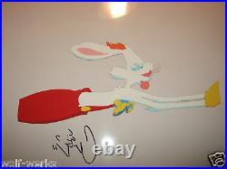 Original Disney Who Framed Roger Rabbit Production Cel Signed Charles Fleischer
