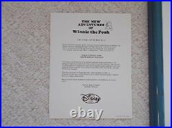 Original Disney Winnie Production Cel The New Adventures of Winnie the Pooh wCer