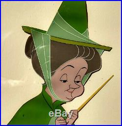 Original Disney hand-painted 1959 Sleeping Beauty production cel Fauna