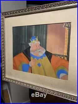 Original Disney hand-painted 1959 Sleeping Beauty production cel King Hubert