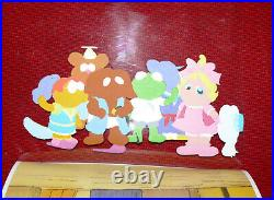 Original Muppet Babies Production Animation Cel Large 6 Group In Egypt Rare