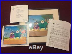 Original Production Cel from Darkwing Duck with Mr. Muddleford, 1991 withCOA