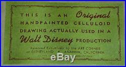 Original Vintage 1950s WALT DISNEY Production Cel'CHIP & DALE' CHIP & CHIP