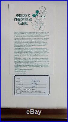 Original Walt Disney Animation Production Cel from Mickey's Christmas Carol