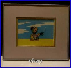 Original Walt Disney Jose Carioca Animation Hand Painted Production Cel RARE