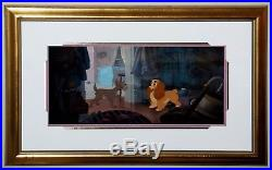 Original Walt Disney Lady and the Tramp Production Cel on Production Background