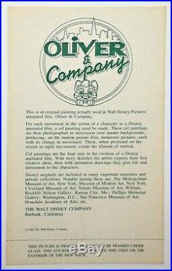 Original Walt Disney Oliver & Company Animation Art Production Cel of Dodger
