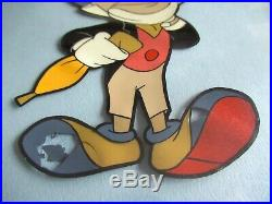 Original Walt Disney Production Cel Pinocchio Jiminy Cricket Animation Art Work
