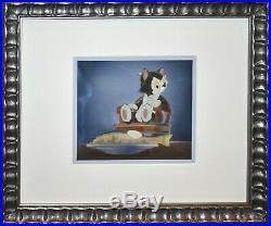 Original Walt Disney Production Cel on Courvoisier Background featuring Figaro