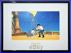 Original Walt Disney The Little Mermaid Animation Production Cel of Eric and Max