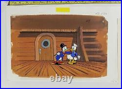 Original production cel And Drawing DuckTales Disney TV Scrooge And Donald Rare